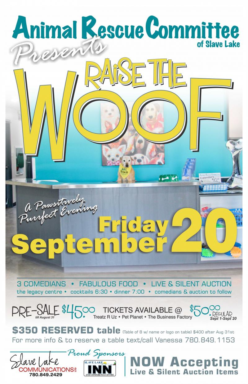 Animal Rescue Committee of Slave Lake - Raise The Woof 2019